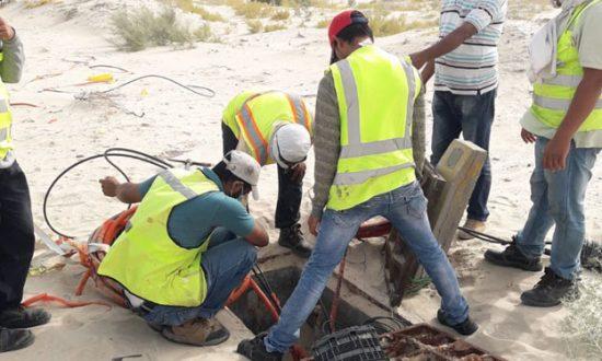 العمل في الصحراء