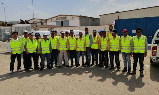 فريق شركة خدمة قنوات الدولية للخدمات الالكترونية ICCES  في تدريب هواوي