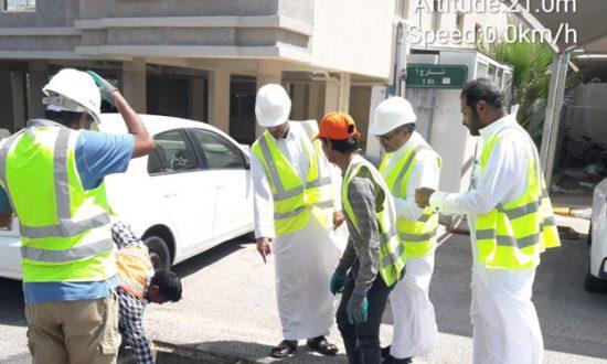فريق  شركة خدمة قنوات الدولية للخدمات الالكترونيةICCES  مع فاحصين شركة الاتصالات السعودية